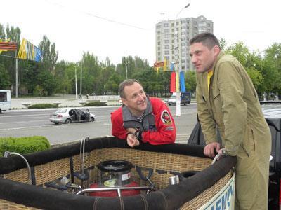 Леонид Тюхтяев и Сергей Скалько в ожидании попутного ветра.