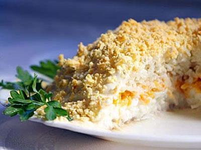 Новый год 2011 рыбный салат мимоза
