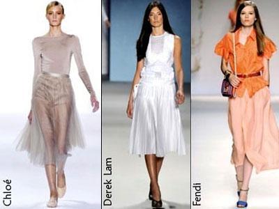 Мода весна-лето 2011. Воздушные юбки покорили подиумы
