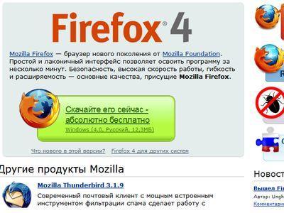 Встречайте: Mozilla Firefox 4!