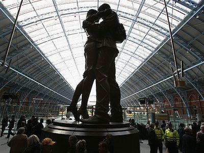 Место встречи на вокзале Сент-Панкрас в Лондоне.