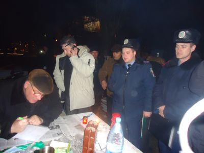 милиция - палаточный городок чернобыльцев
