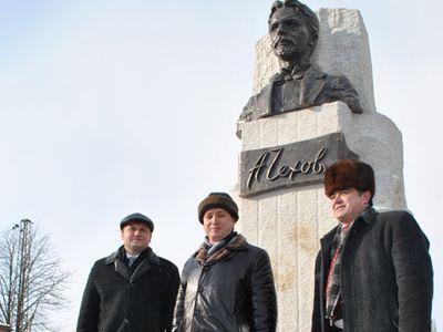 В Донецкой области открыли памятник великому русскому писателю