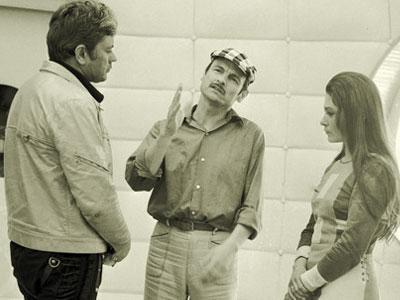 Донатас Банионис, Андрей Тарковский и Наталья Бондарчук во время работы над «Солярисом».