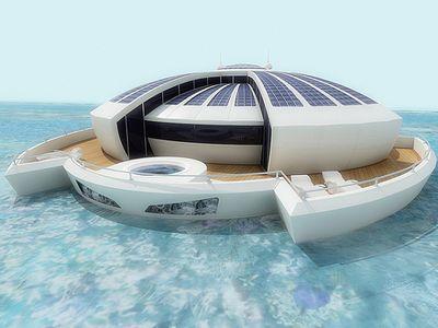 Представлен проект плавающего курорта на солнечных батареях (ФОТО)