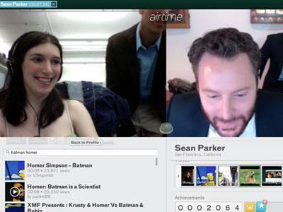 Создатели известного в прошлом файлообменного сервиса Napster Шон Паркер и Шон Фэннинг на выходных официально объявили о запуске своего нового продукта - браузерного видеочата, известного как Airtime, при помощи которого пользователи могут общаться как с друзьями, так и с незнакомцами по видеосвязи через Facebook.