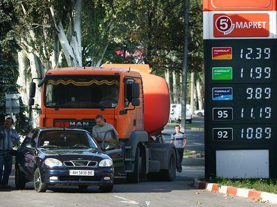 Цена бензина на донецких заправках не превышает порога,  рекомендованного правительством.