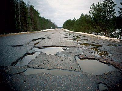 Украинские дороги оказались в десятке худших по качеству в мире