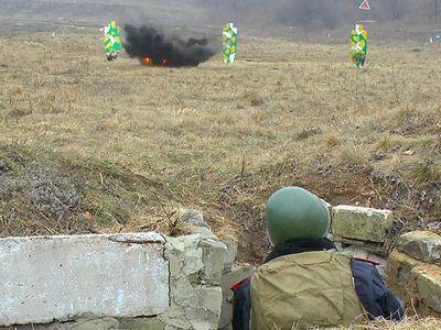 Недалеко от Донецка взорвали три десятка гранат (ФОТО)