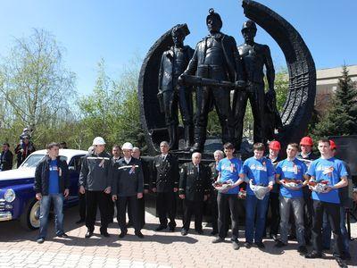Шахтеры Макеевки проводили автопробег в Берлин (ФОТО)