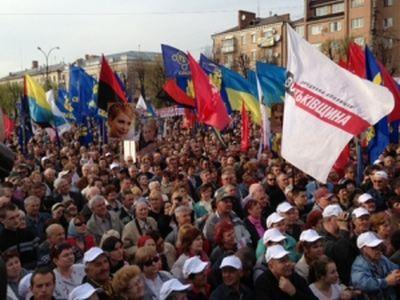 Регионалы заподозрили, что оппозиция устраивает скандал в Донецке из-за неспособности собрать митингующих