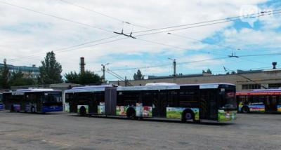 Донецкие евротроллейбусы разобрали на запчасти