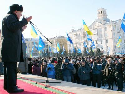 Участники митинга тепло встретили выступление президента НКМЗ Георгия Скударя