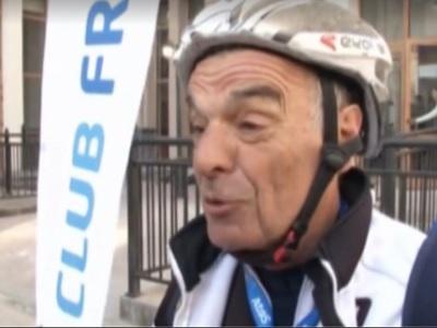 Пожилой француз приехал в Сочи из Куршевеля на... велосипеде (ВИДЕО)