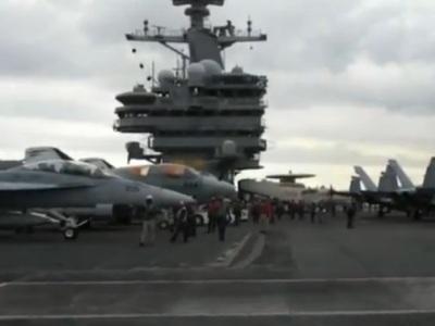 Американский военный мега-корабль не пропускают в Чёрное море (ВИДЕО)