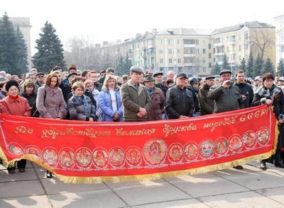 Митинг пророссийски настроенных жителей Краматорска прошёл мирно.