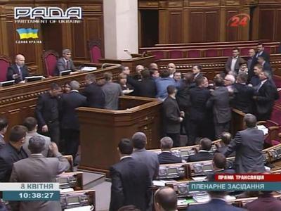 Пётр Симоненко спровоцировал драку в Верховной Раде (ВИДЕО)