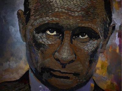 Украинская художница создала портрет Путина из гильз, собранных на Донбассе