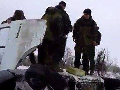 В Донецке разбился автобус, из которого боевики обстреливали город