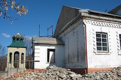 Искалеченный храм Иоанна Кронштадтского.