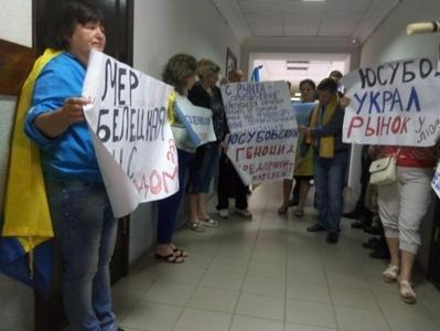 В Краматорске предприниматели из Новогродовки протестуют против «бизнеса по-донецки»