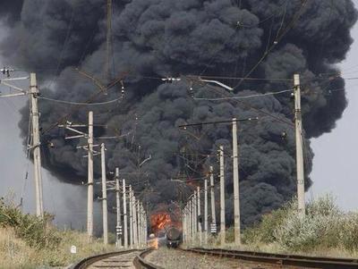 В Ясиноватой у боевиков сгорели 58 тонн топлива