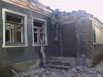 Последствия вчерашних ударов по Донецку.
