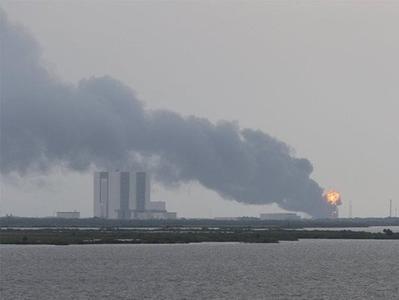 За два дня до пуска в США взорвалась космическая ракета (ВИДЕО)