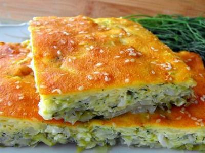 Быстрый пирог с молодой капустой на кефире - вкус и польза в чистом виде
