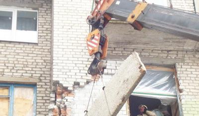 В поселке Мироновский восстановлен разрушенный многоэтажный дом