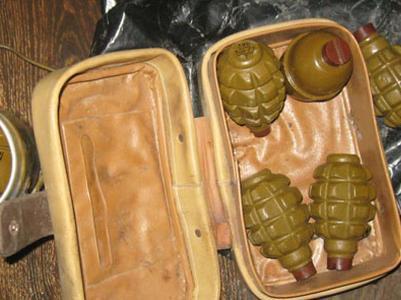 В Донецкой области у пассажира рейсового автобуса полиция обнаружила восемь гранат