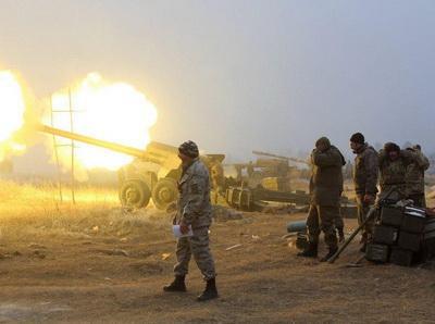 Позиции ВСУ в районе Мариуполя обстреляны из тяжелого вооружения