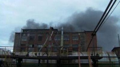 В России горит Казанский пороховой завод. ВИДЕО