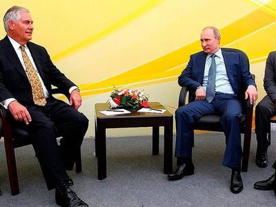 Путин проводит встречу с госсекретарем США Тиллерсоном, - Песков