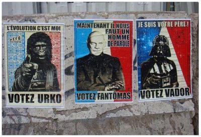 Французам предлагают голосовать за Короля обезьян, Фантомаса и Дарта Вейдера