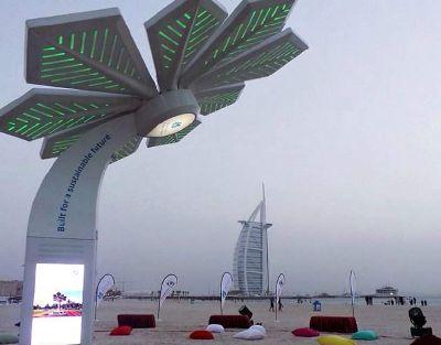 В Дубае появилась пальма, заряжающая смартфоны