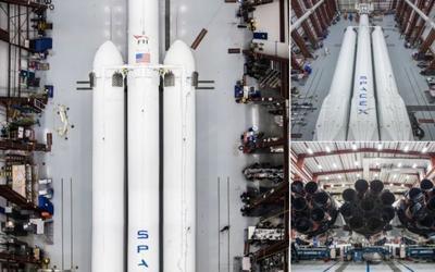 Илон Маск показал первые фото межпланетной ракеты Falcon Heavy