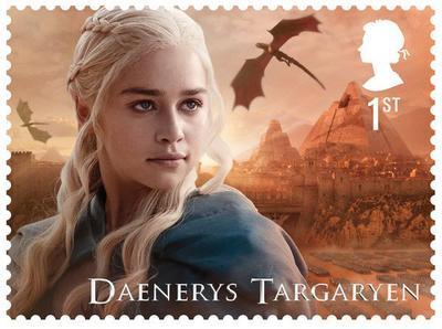 """Почта Великобритании выпустила марки с героями """"Игры престолов"""""""