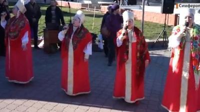 В Симферополе на Рождество пели украинские колядки (ВИДЕО)