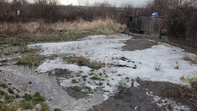 """""""Серая зона"""" Донбасса: огороды людей превратились в болото"""