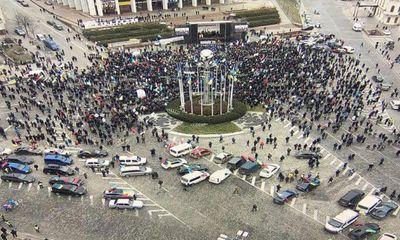 В Киеве отмитинговали спокойно