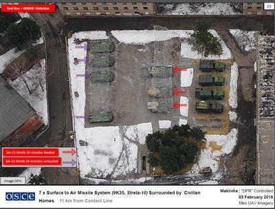 ОБСЕ сняла с дрона военную технику боевиков ДНР в жилых кварталах Макеевки