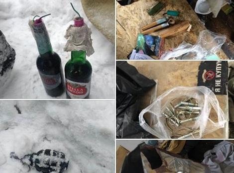 """Во время """"зачистки"""" палаточного городка у стен Верховной Рады нашли боеприпасы и произвели массовые задержания"""