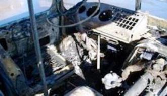 В ОРЛО во время движения сгорел автобус