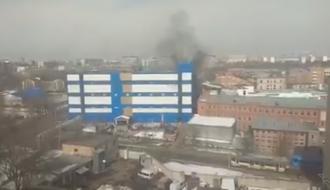 В Москве горит очередной крупный торговый центр: появилось видео
