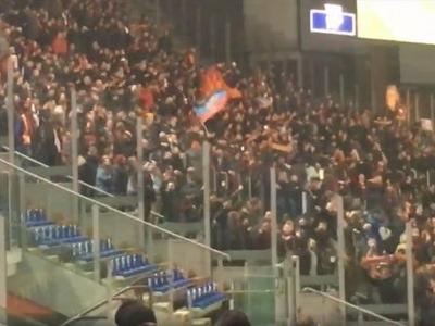 УЕФА открыла дело против ФК «Рома» за флаг «ДНР» на трибуне во время матча с «Шахтером»