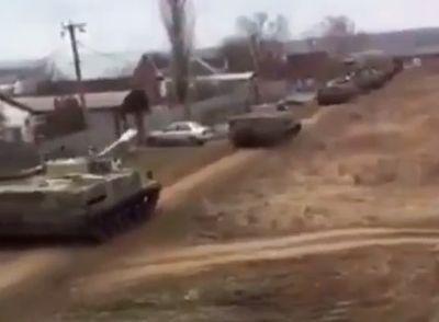 Россия стянула военную технику у границы с Украиной (ВИДЕО)