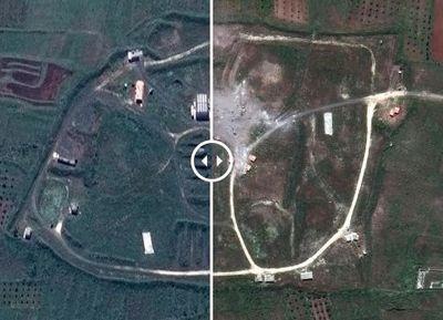 Удар и последствия: показали масштаб разрушений после ракетной атаки на сирийские объекты
