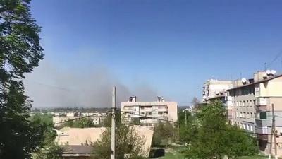 Пожар на воинских складах в Балаклее локализирован, открыто уголовное производство