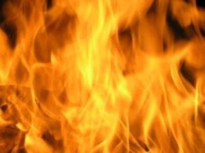 Огонь травмировал человека на Луганщине